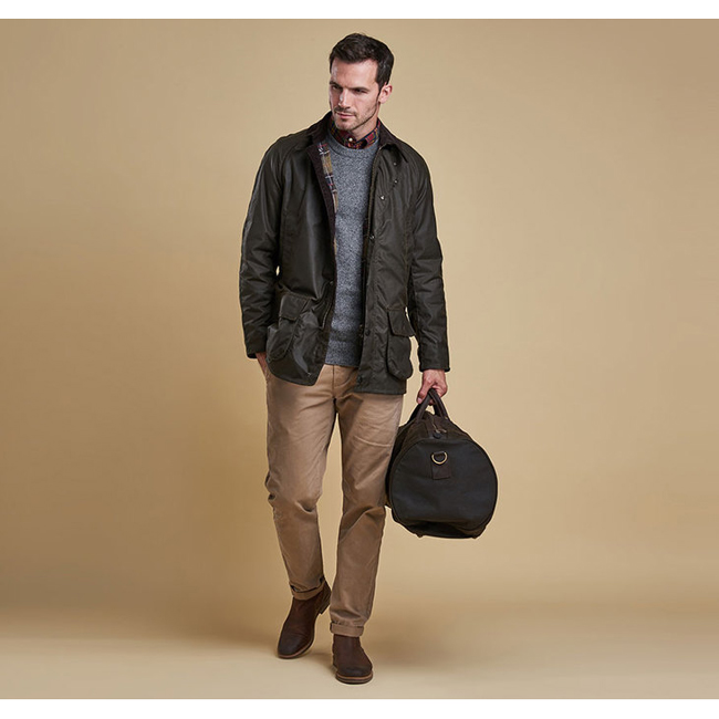 Cheap Barbour Men Olive BRISTOL WAX JACKET Online
