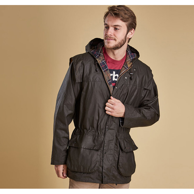 Barbour CLASSIC DURHAM WAX JACKET Men Olive Outlet Store