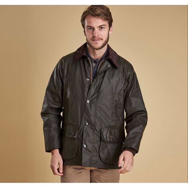 Barbour CLASSIC BEDALE WAX JACKET Men Olive Outlet Store