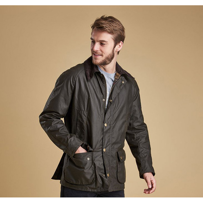 Cheap Barbour Men Olive ASHBY WAX JACKET Online
