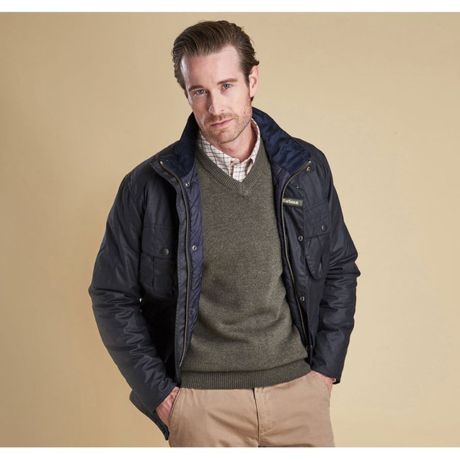Cheap Barbour Men Navy WINTER UTILITY WAX JACKET Online