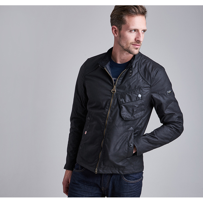 Cheap B.INTL  LEGION WAX JACKET Black Sale