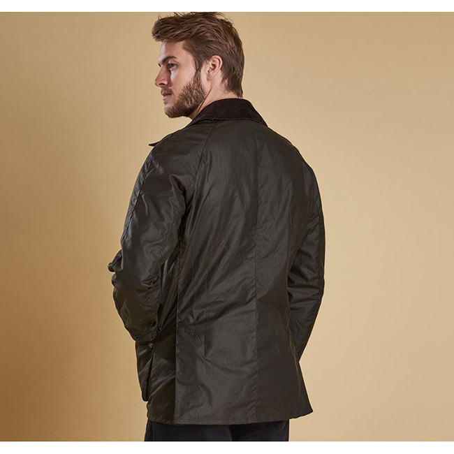 Cheap BARBOUR ASHBY WAX JACKET Olive Sale