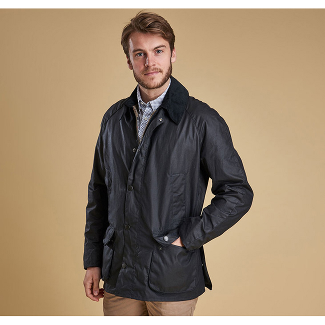 Cheap BARBOUR ASHBY WAX JACKET Navy Sale