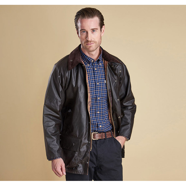 Cheap Barbour Men Rustic BEAUFORT WAX JACKET Online