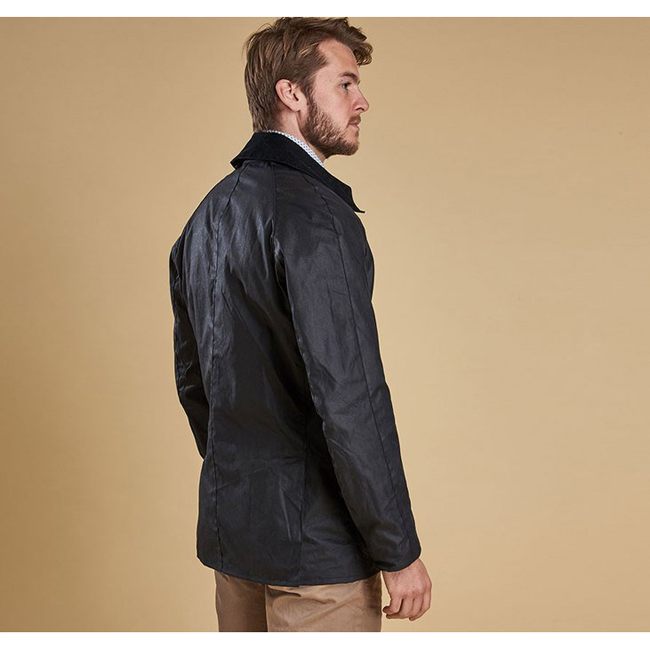 Cheap Barbour Men Navy ASHBY WAX JACKET Online