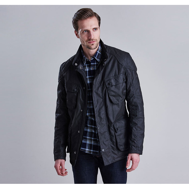 Barbour B.INTL CRANK WAX JACKET Men Black Outlet Store