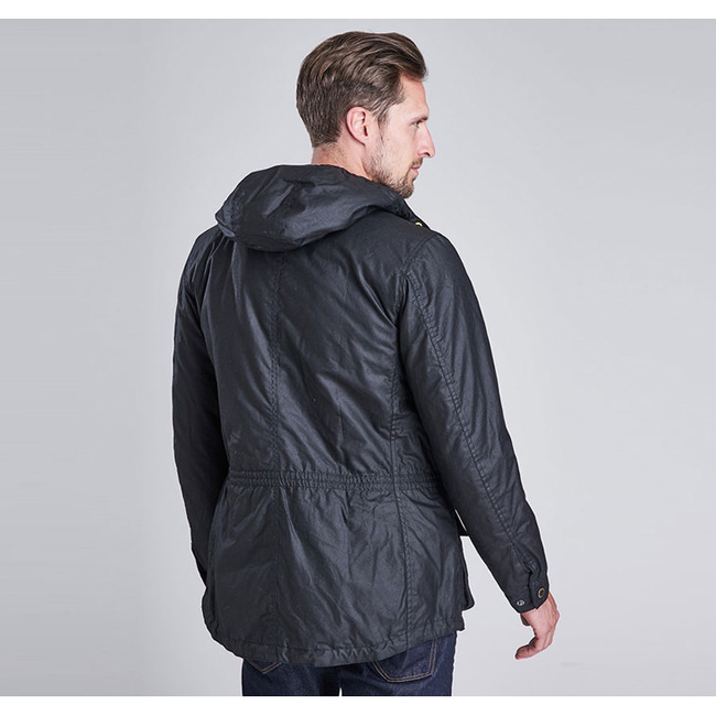 Barbour B.INTL FOG WAX PARKA JACKET Men Black Outlet Store