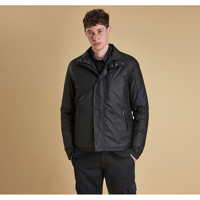 Cheap Barbour Men Black SEVEN BELL WAX JACKET Online