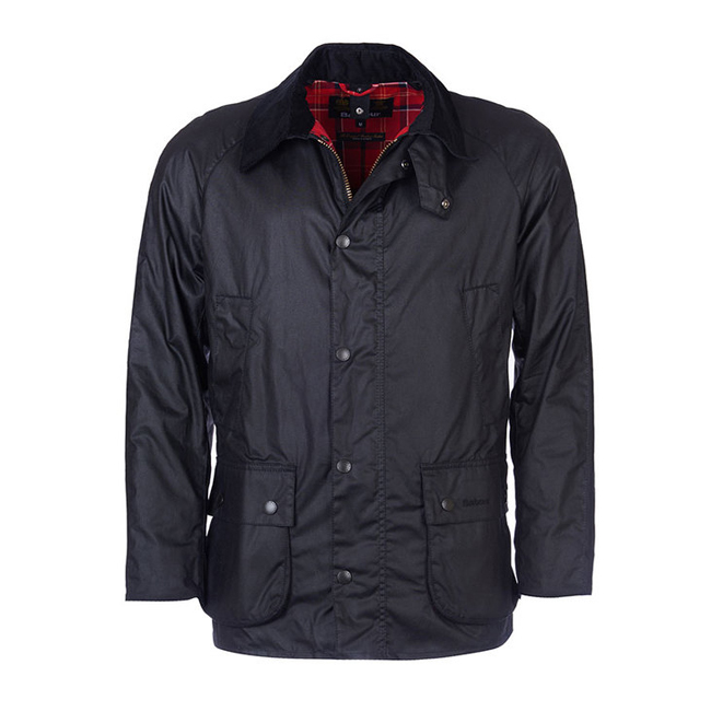 Cheap BARBOUR ASHBY WAX JACKET Black Sale