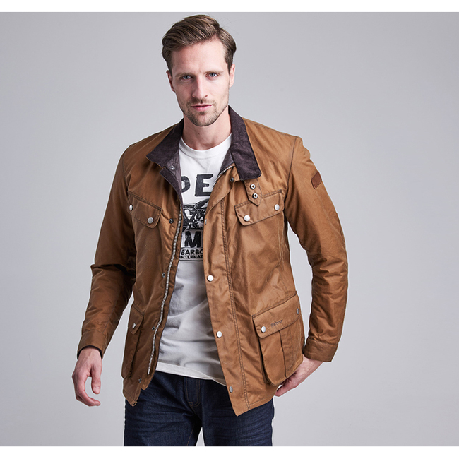 Cheap B.INTL DUKE WAX JACKET Tan Sale