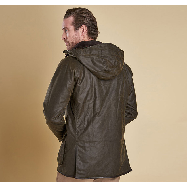 Cheap BARBOUR LONGHURST WAX JACKET Olive Sale