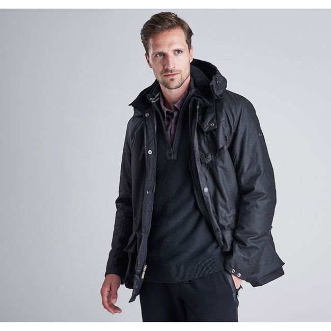 Barbour B.INTL ONYX WAX JACKET Men Black Outlet Store