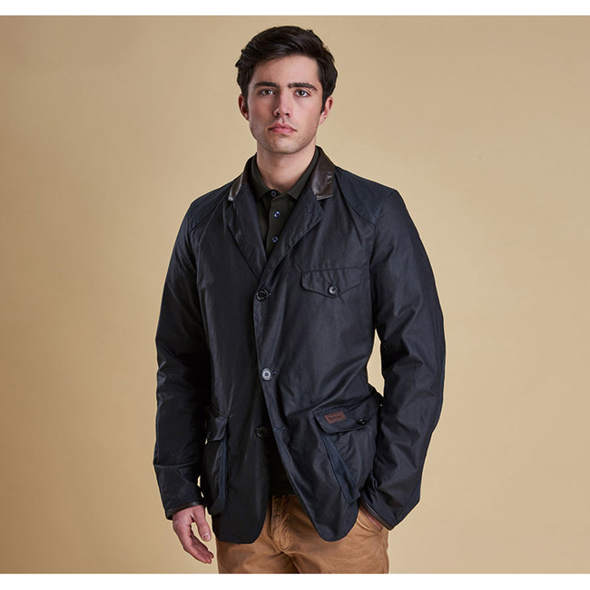 Barbour BEACON TWO WAX JACKET Men Navy Outlet Store