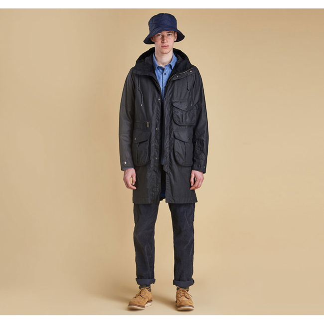 Barbour APUS WAX JACKET Men Navy Outlet Store