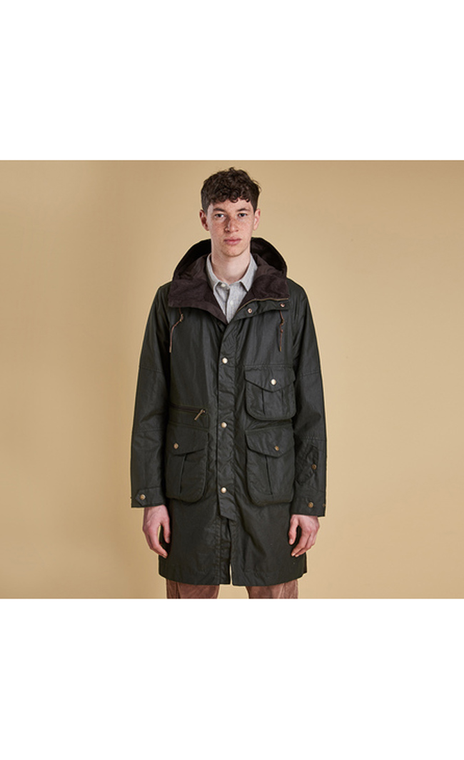 Barbour APUS WAX JACKET Men Sage Outlet Store