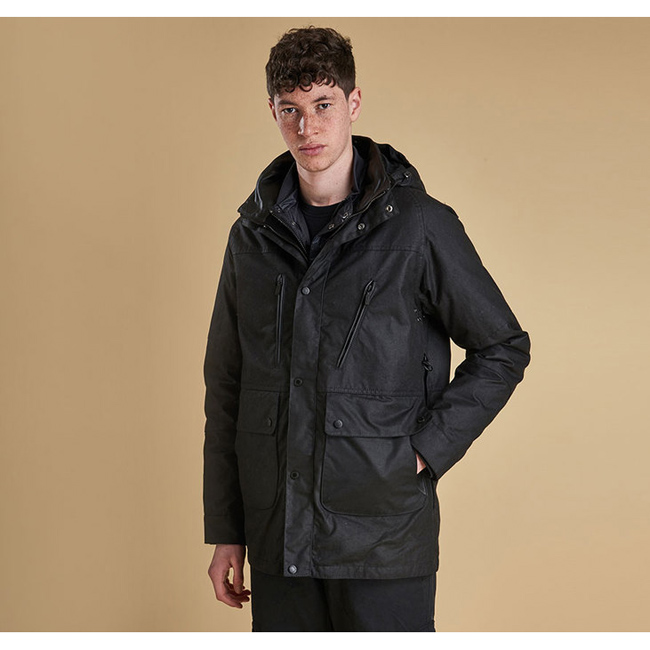 Barbour ONE BELL WAX JACKET Men Black Outlet Store