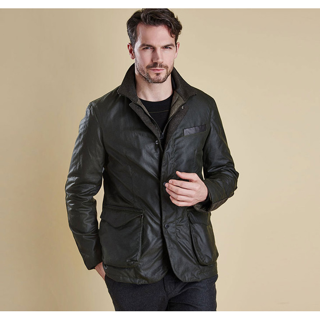 Cheap Barbour Men Sage OBSERVE WAX JACKET Online