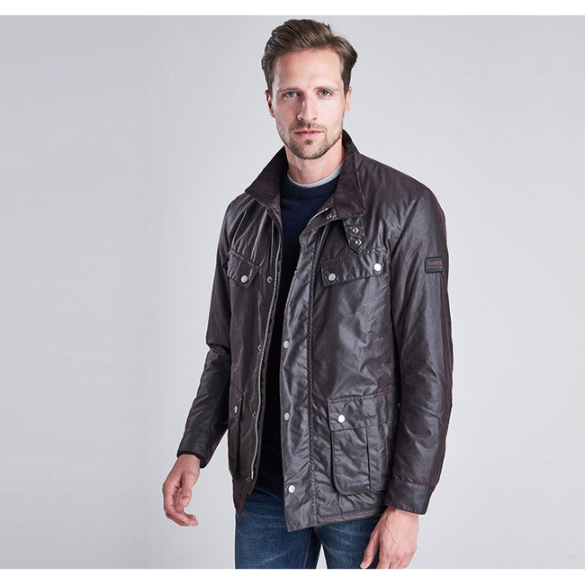 Cheap Barbour Men Rustic B.INTL DUKE WAX JACKET Online