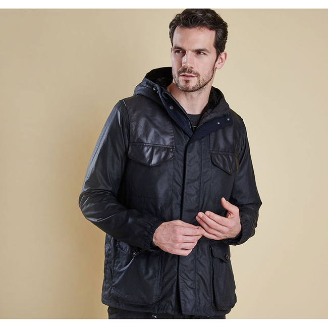 Cheap BARBOUR INFORMER WAX JACKET Navy Sale