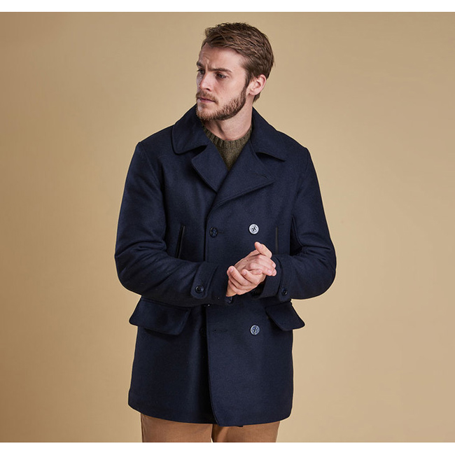 Cheap BARBOUR BATTEN WOOL JACKET Navy Sale