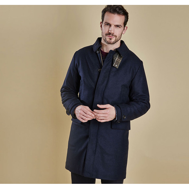 Cheap BARBOUR WATTEN WOOL JACKET Navy Sale