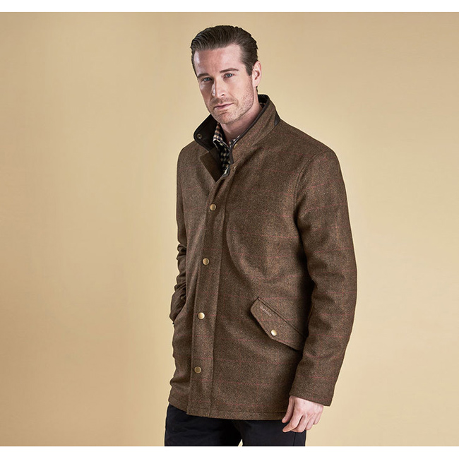 Cheap BARBOUR WIMBREL WOOL TWEED JACKET Olive/Re/Or  Sale
