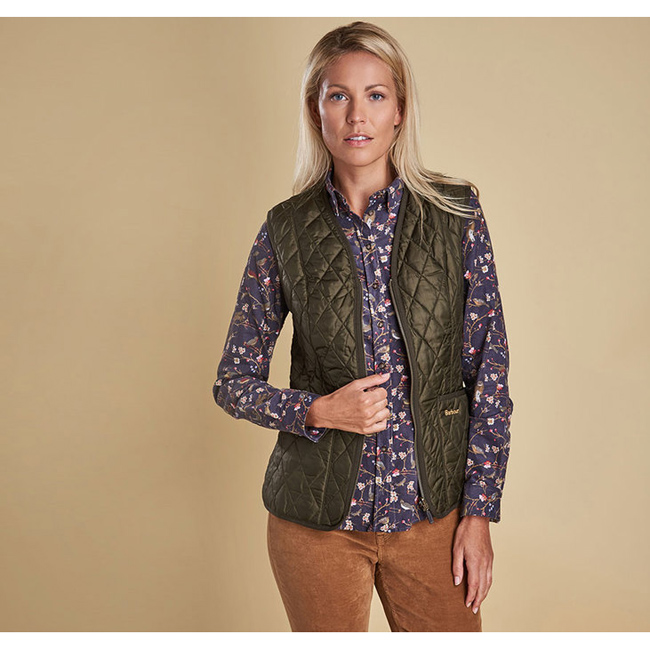Cheap Barbour Women Olive BETTY INTERACTIVE LINER Online