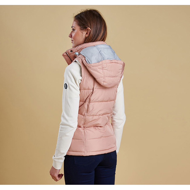 Cheap BARBOUR LANDRY GILET Nude/Silver Ice Sale