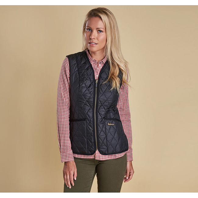 Cheap Barbour Women Black BETTY INTERACTIVE LINER Online