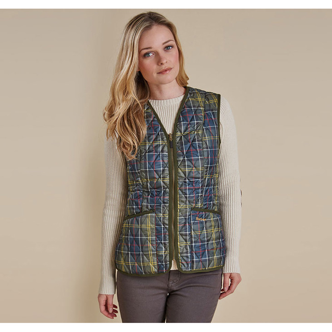 Barbour TARTAN BETTY LINER Women Classic Outlet Store