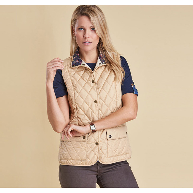 Barbour SADDLEWORTH QUILTED GILET Women Pearl Outlet Store