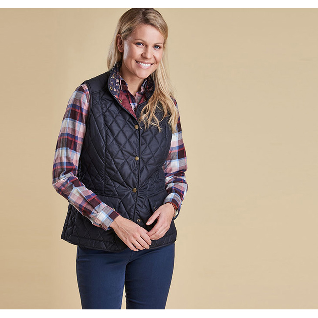 Cheap Barbour Women Navy SADDLEWORTH QUILTED GILET Online