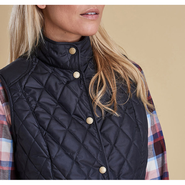Cheap BARBOUR SADDLEWORTH QUILTED GILET Navy Sale