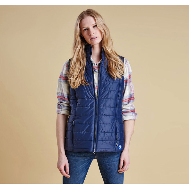 Cheap Barbour Women Royal Navy BRAE QUILTED GILET Online