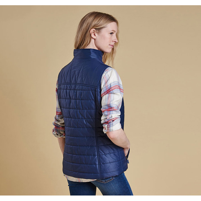 Barbour BRAE QUILTED GILET Women Royal Navy Outlet Store