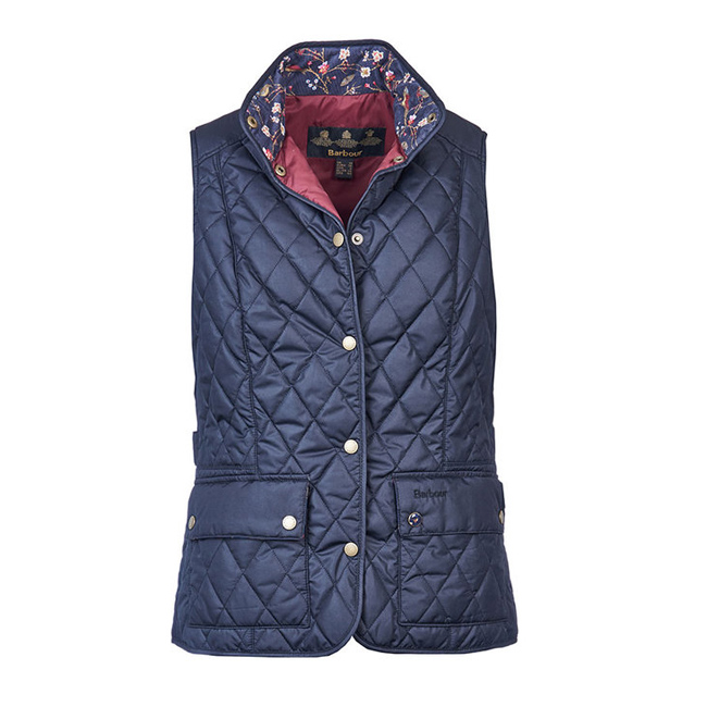 Barbour SADDLEWORTH QUILTED GILET Women Navy Outlet Store