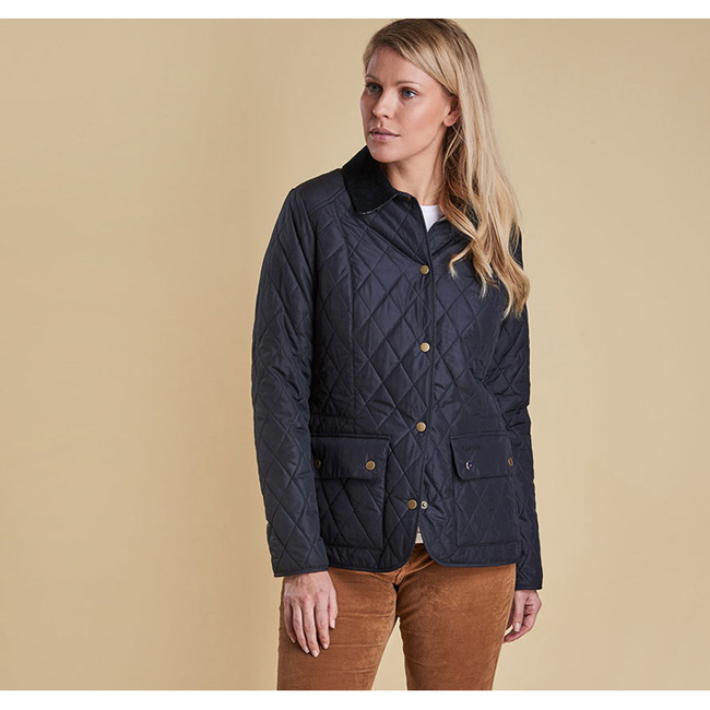 Barbour SADDLEWORTH QUILTED JACKET Women Navy Outlet Store