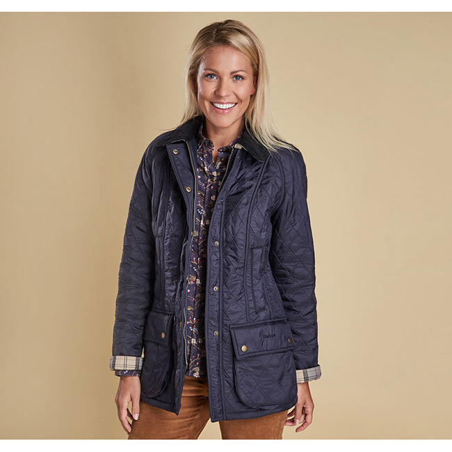 Barbour BEADNELL POLARQUILT JACKET Women Navy/Navy Outlet Store