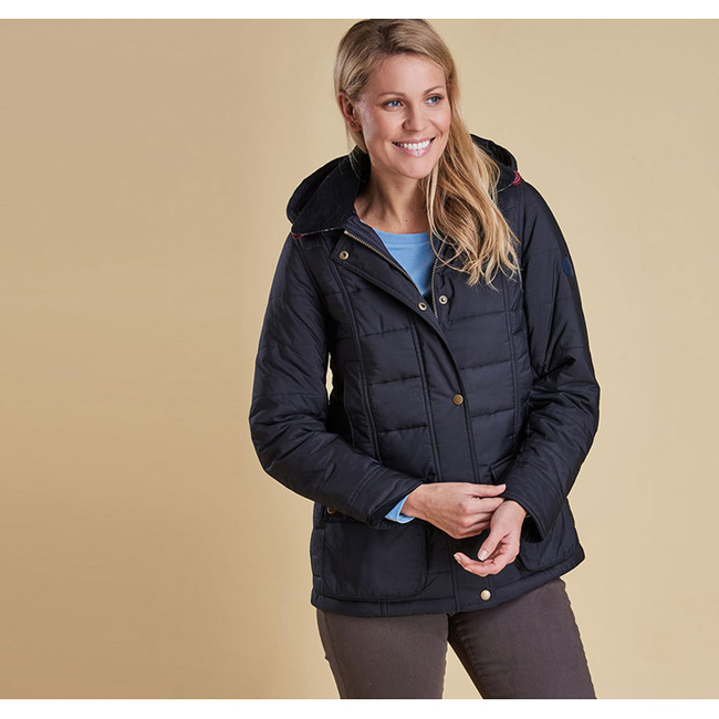 Barbour ILKLEY QUILTED JACKET Women Navy Outlet Store