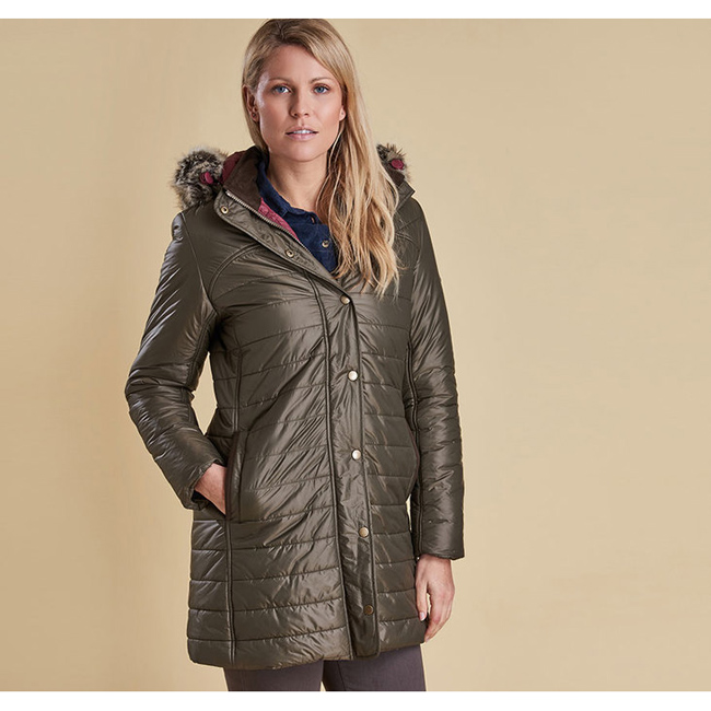 Barbour ROSSENDALE QUILTED JACKET Women Olive Outlet Store