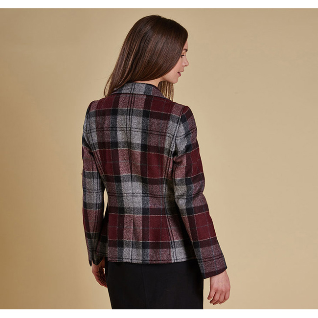 Barbour BEAMAN TAILORED BLAZER JACKET Women Port  Outlet Store