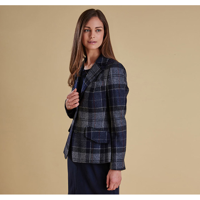 Cheap Barbour Women Navy BEAMAN TAILORED BLAZER JACKET Online