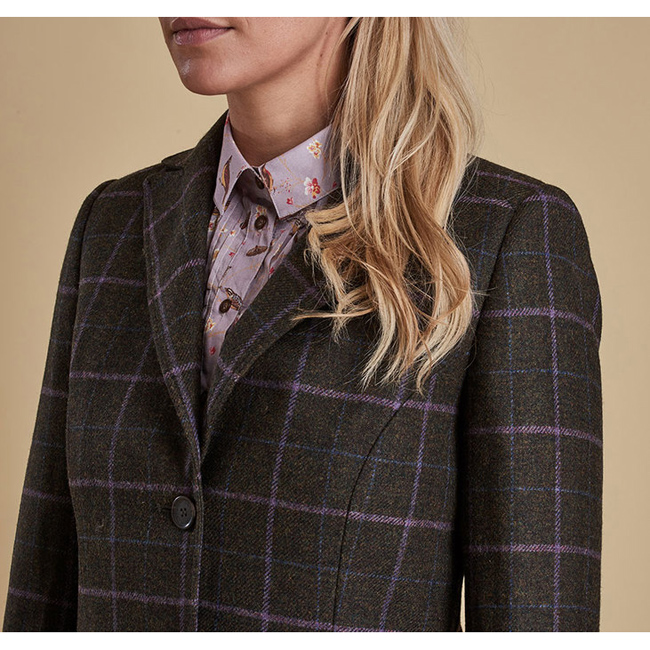 Cheap Barbour Women Olive DARWEN TAILORED TWEED JACKET Online