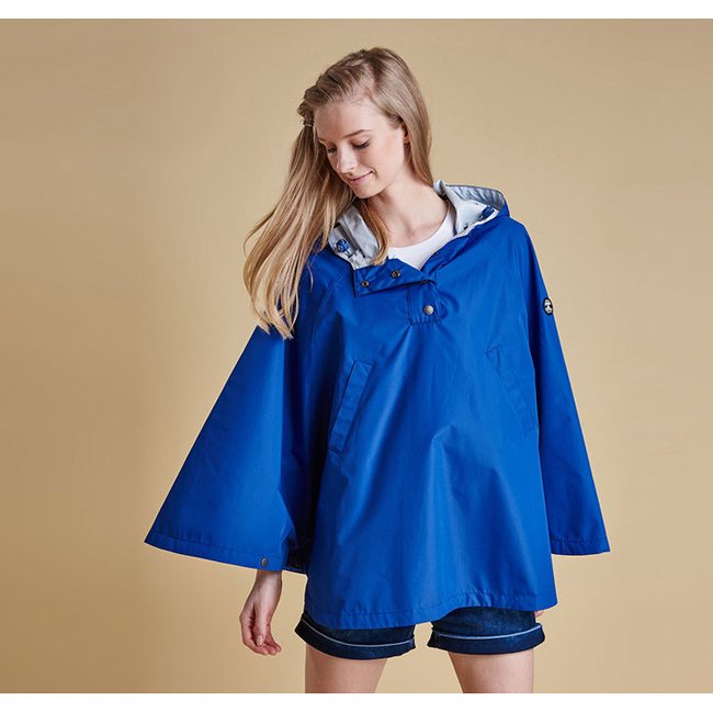Cheap BARBOUR BRAE WATERPROOF PONCHO Seablue Sale