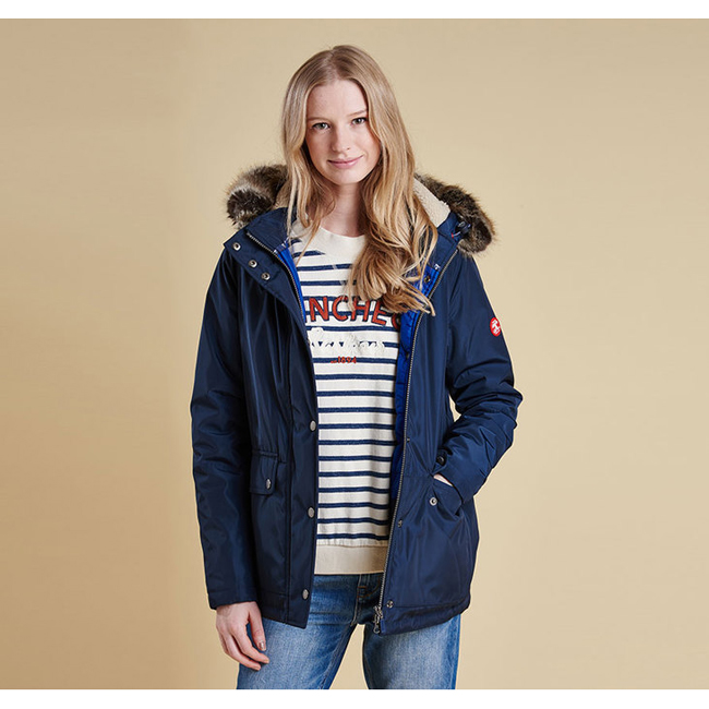 Barbour CREVASSE WATERPROOF BREATHABLE JACKET Women Navy / Seablue Outlet Store