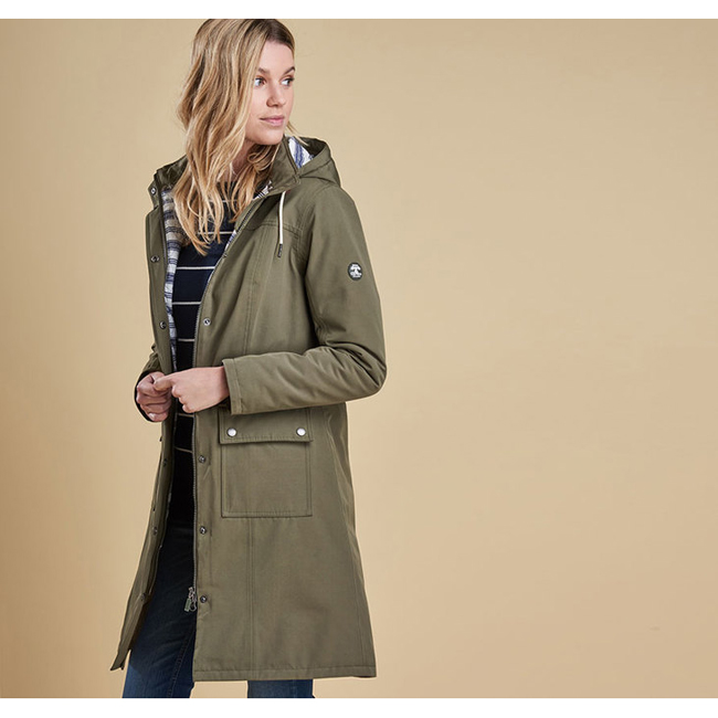Barbour PIER WATERPROOF BREATHABLE JACKET Women Seaweed Outlet Store