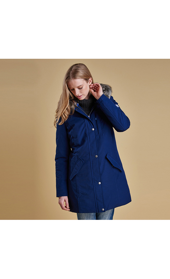 Barbour EPLER WATERPROOF BREATHABLE JACKET Women Seablue Outlet Store