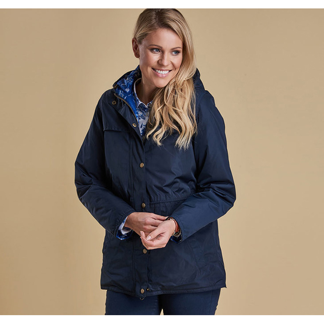 Barbour FRANCES REVERSIBLE WATERPROOF JACKET Women Navy  Outlet Store