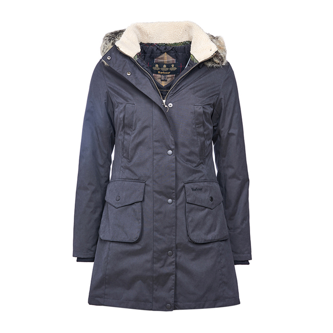 Barbour HASLINGDEN WATERPROOF JACKET Women Black  Outlet Store
